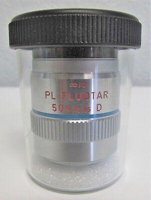 New Leica Leitz 567017 Pl Fluotar 50x0.85 D 0 Microscope Objective Lens