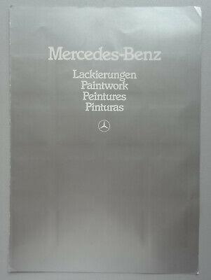 S054 MERCEDES 1982 - COLOR BOOK - A4 - GB D FR ESP