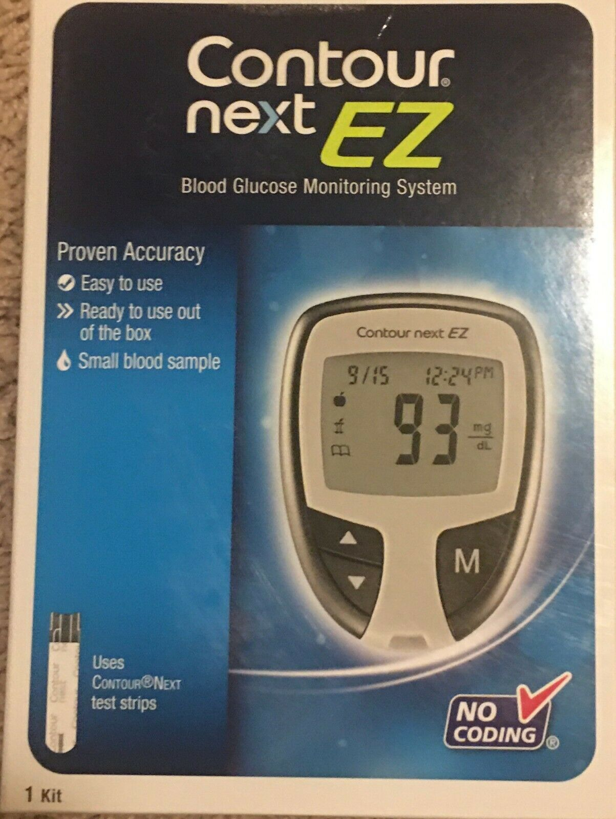 Ascensia  Contour NEXT EZ Blood Glucose Meter Kit Unopened