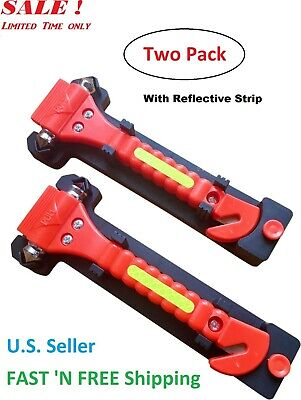 Two PCS Auto Car Window Glass Hammer Breaker SeatBelt Cutter Emergency Escape