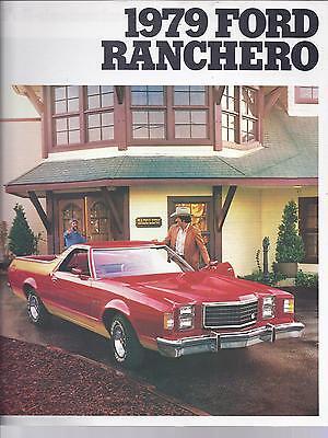 1979 FORD RANCHERO SALES BROCHURE ORIGINAL