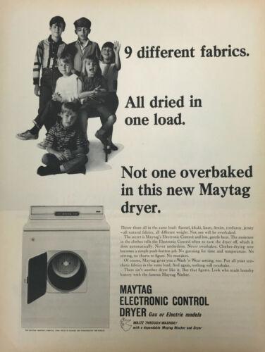 Maytag Dryer Magazine Print Ad Vintage Household Appliances Home Original 1965