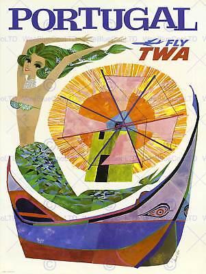 TRAVEL SCANDINAVIA SAS AIRLINE VINTAGE POSTER ART PRINT 1021PY