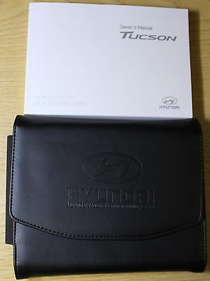 GENUINE HYUNDAI TUCSON OWNERS MANUAL HANDBOOK WALLET 2015-2016 PACK !!!
