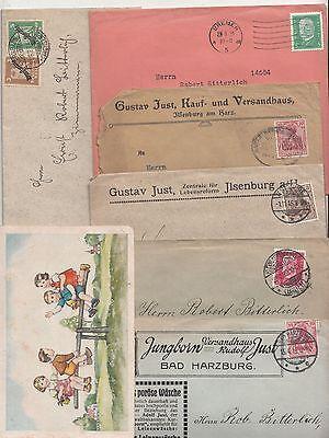 Lot Briefe Postkarte Briefköpfe Dokumente kleines Fotoalbum Fundgrube ! (D
