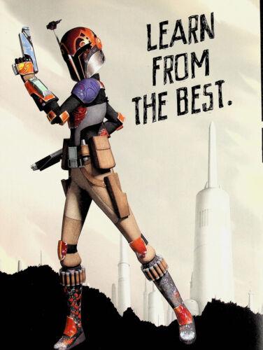 Sabine Wren - Learn From the Best- Star Wars Rebels Mini Poster 8X11 Mandalorian