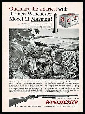 1960 WINCHESTER Model 61 ,.22 Magnum Rifle AD shown w/ Western Ammunition