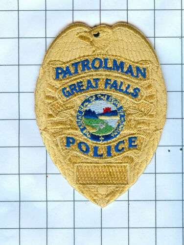 Police Patch Embroidered Mini-Patch  - Montana - Patrolman Great Fa...
