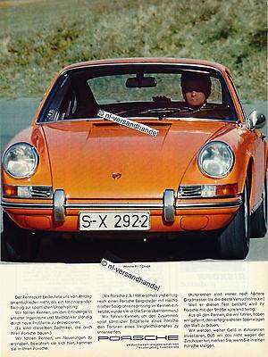 Porsche-911T-Coupe-1971-Reklame-Werbung-genuine Advertising - nl-Versandhandel