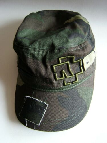RAMMSTEIN embroidered logo camo army hat