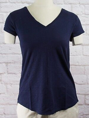 NWT Womens GAP Short Sleeve Easy V-Neck T-Shirt Navy Uniform - 803966