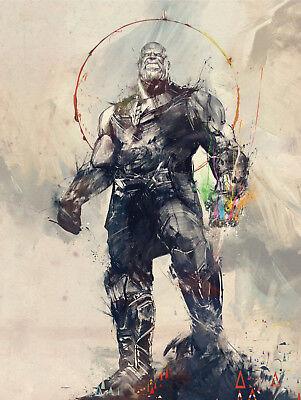 Avengers Infinity War Canvas Giclee Print Thanos Picture Unframed Wall Art Decor (Avengers Decor)