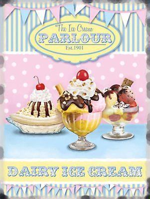 Dairy Ice Cream Poster Metal Tin Signs Retro Plate Desserts Shop Decor