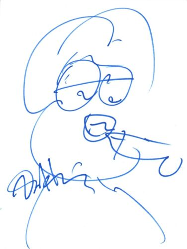 Dan Harmon Signed Autographed 8.5x11 Hand Drawn RICK AND MORTY Sketch COA