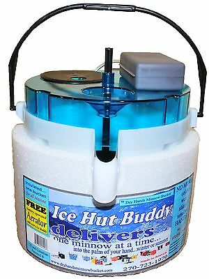 Dry Hands Minnow Bucket ice hut buddy shrimp buddy live bait free aerator