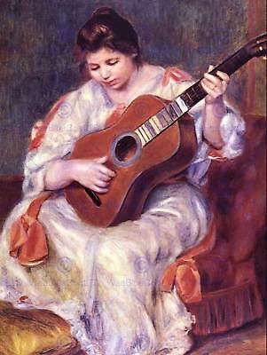 PIERRE AUGUSTE RENOIR GIRL PLAYING GUITAR OLD MASTER ART PAINTING PRINT 2412OM