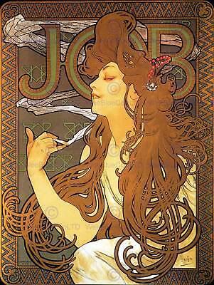 Mucha-job (ALPHONSE MUCHA JOB 1896 OLD MASTER ART PAINTING PRINT POSTER REPRODUCTION 117OM)