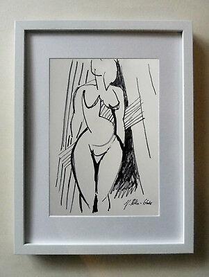 J. Rother-Glass 1956*Original Zeichnung WEIBLICHER AKT- handsig.,VERZEICHNET !!