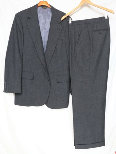 Made USA_70s Vintage_Full Floating Canvas SOUTHWICK Suit_Gray_Sz.42L_Pants 36x30