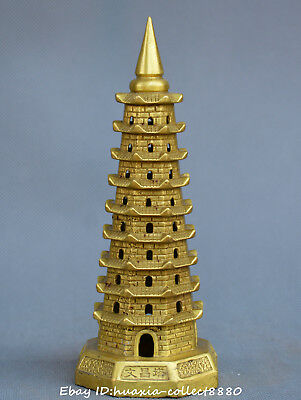 exquisite and rare Wenchang Pagoda Bronze Antique Chinese Wenchang tower