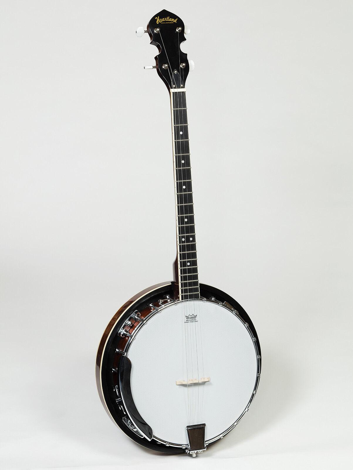 New Heartland Banjo, 5 String Banjo, 4 String tenor Banjo, Tenor Banjo With Case 4 Saiten Banjo mit Nylon Case