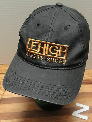 LEHIGH SAFETY SHOES HAT SNAPBACK ADJUSTABLE BLACK W/GOLD LETTERING GOOD COND Z for sale  Shipping to India
