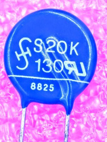 S20K130 - Metal Oxide Varistor Clamp Vdcm=170V, Vacm=130V - Lot 1, 5, or 10