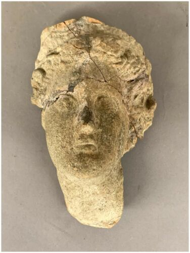 Ancient Roman Goddess Terracotta Head circa 100 BC