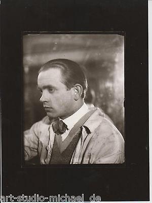 """Original Vintage-Foto von Heinz Loew: """"Fritz Winter"""", Glasnegativ, um 1929"""