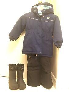 Size 4 Winter Coat, Snow Pants, Boots