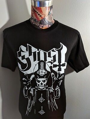 NEW GHOST SWEDISH ROCK BAND BLACK & WHITE PAPA BISHOP SKELETON PIC BLACK T SHIRT](Skeleton Shirts)