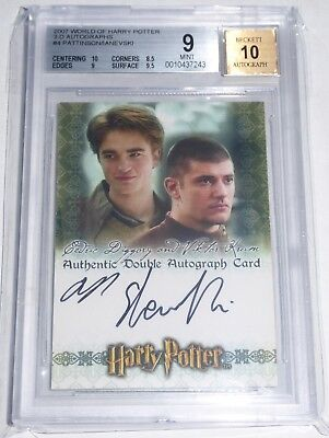 World of Harry Potter 3-D Autographs ROBERT PATTINSON Cedric Diggory BGS 9 2007