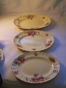 J & G Meakin Oval Platter x 3 Sml Med & Lge Pink Rose Shabby Chic Wynyard Waratah Area Preview