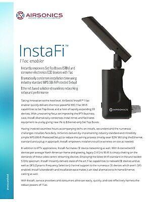 Ethernet to Gigabit WI-FI adapter Airsonics InstaFi 11ac Enabler