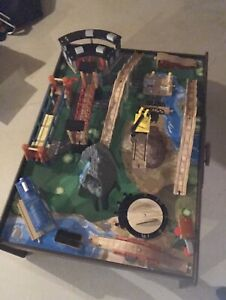 Imaginarium train table, tracks and trains