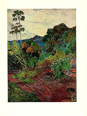 "1972 Vintage GAUGUIN ""MARTINIQUE LANDSCAPE"" GORGEOUS COLOR offset Lithograph"