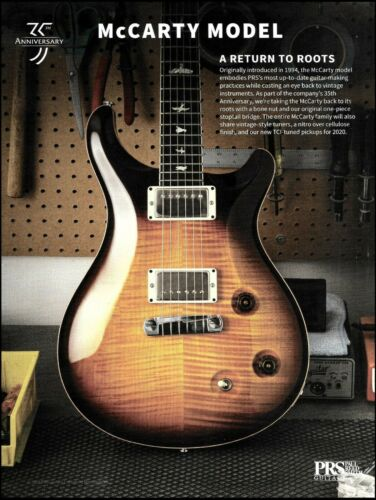 PRS Ted McCarty Model 35th Anniversary electric guitar advertisement ad print