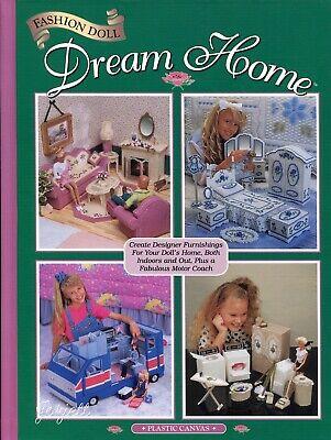 Fashion Doll Dream Home ~ Camper & More fit Barbie, plastic canvas pattern book