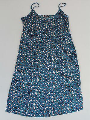 Boohoo Women's Plus Leopard Print Strappy Midi Dress SH3 Turquoise Size US:16