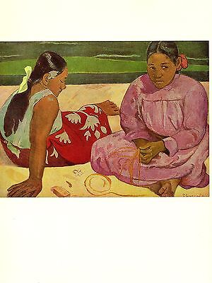 """1972 Vintage GAUGUIN """"TAHITIAN WOMEN"""" LOVELY TAHITI COLOR offset Lithograph"""