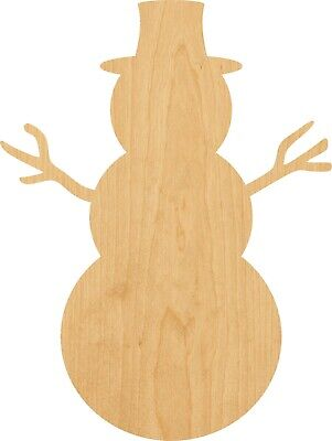 Snowman #1386 Laser Cut Out Wood Shape Craft Supply – Woodcraft