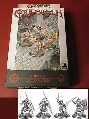 Legionnaires Unit - Godslayer MG-0303 Mortans Legionnaires Core Unit Box (4) Miniatures Infantry NIB