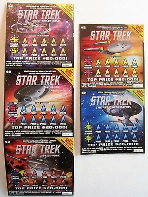 Star Trek  Instant Sv Lottery  Ticket Set Of 5  Issued 2013 By Nc   Expired