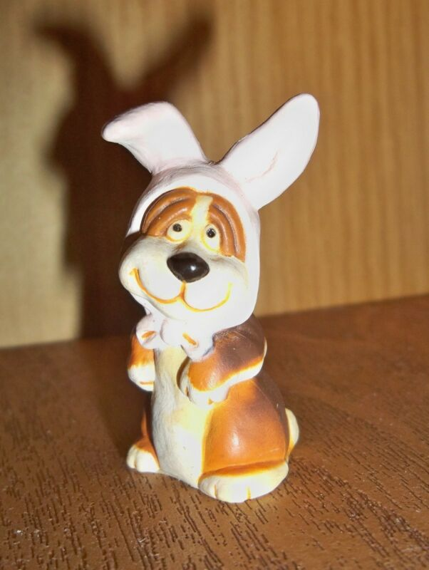 HALLMARK Merry Miniature 1987 Sebastian Easter Bunny Ears Dog