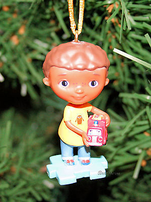 NEW Disney DOC MCSTUFFINS DONNY BOY WITH TRUCK  Custom Christmas Ornament PVC ](Doc Mcstuffins Boy)