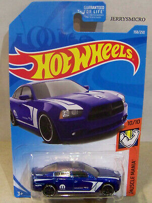 HOT WHEELS 50TH MUSCLE MANIA 69 DODGE CHARGER 500 IN BLUE #6/10 OR #215/365