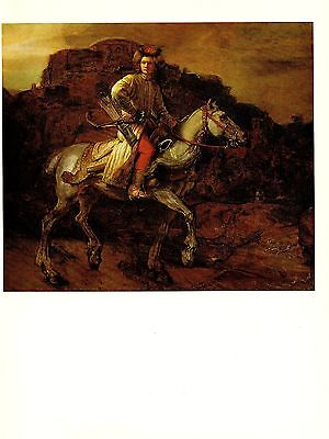 "1967 Vintage REMBRANDT ""THE POLISH RIDER"" COLOR offset Lithograph"
