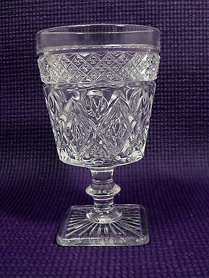 Cape Cod Imperial Glass  Square Footed  Clear  Goblet  (8 ounce)