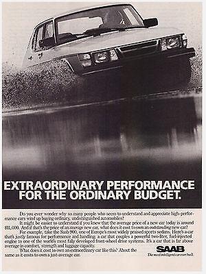 Original 1983 Saab 900 Print Ad Vintage