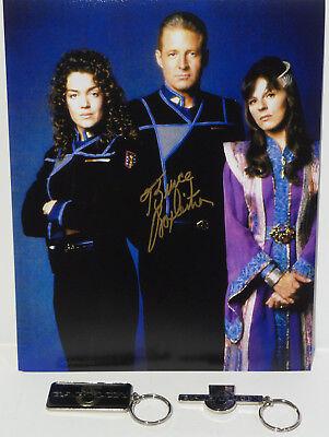 BABYLON 5 : JOHN SHERIDAN, SUSAN IVANOVA,DELENN PHOTO SIGNED BY BRUCE BOXLEITNER